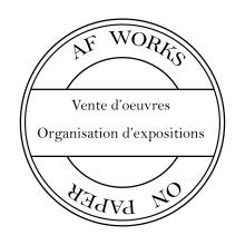Logo rond AF Works on paper