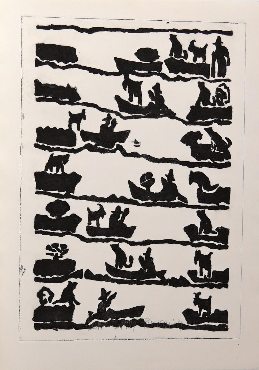 Le loup, la chèvre et le chou - 1999 - 105 x 75 cm
