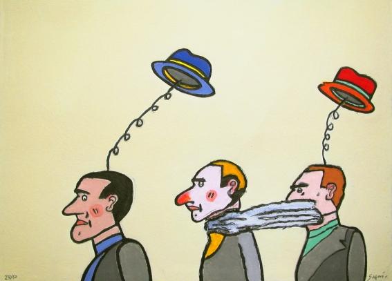 Les chapeaux - 55 x75 cm