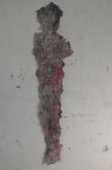 La femme en rouge - 138 x 35 cm - 2012