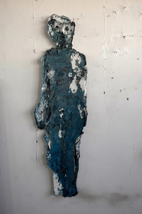 La femme en bleu - 155 x 45 cm - 2008