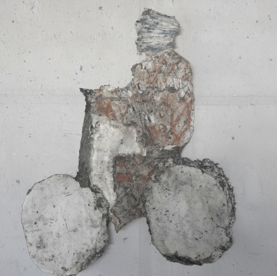Le cycliste - 122 x 106 cm - 2012